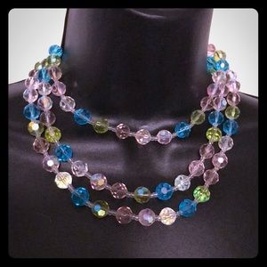 Triple Strand GlassBead Necklace Gorgeous!